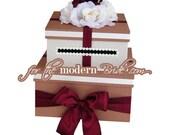 2 Presents CUSTOM WEDDING MONEY CARD BOX HOLDER