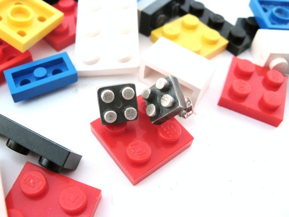 2X2 Building Block Minis - Post Style Earrings