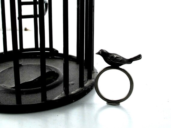 Little Bird Ring - Hand Cast in Sterling Silver