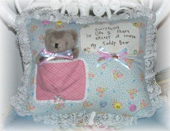 Circotm Decorative Pillow Mini Bear : Teddy Bear Pillow Small Nursery Decorative Cushion