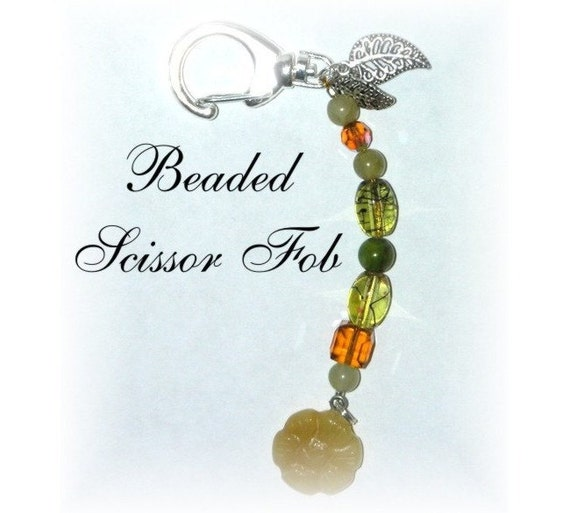 Scissor Fob Beaded for Sewing and Embroidery