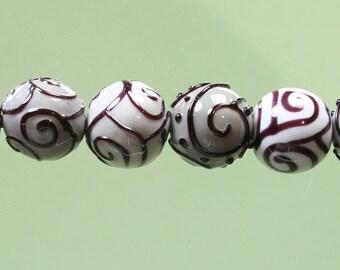 final sale ... StoneyMarie Set of 6 Handmade Lampwork Glass Beads