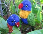 Rainbow Lorikeet (crochet pattern) Australian Native Birds