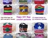 Happy Gift Bags (crochet patterns)