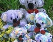 Koala Kapers - koala family crochet pattern