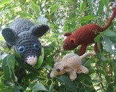 Pesky Possums crochet patterns - Ring tail, brush tail and sugar glider