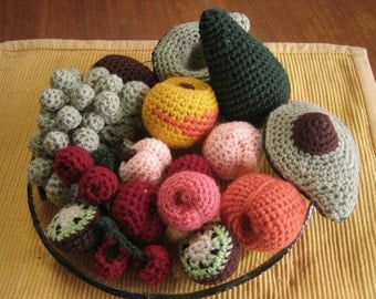 Cute Fruit Bowl (crochet patterns)