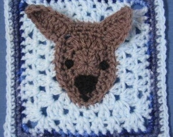 Brumby Horse Square rugalugs crochet pattern.