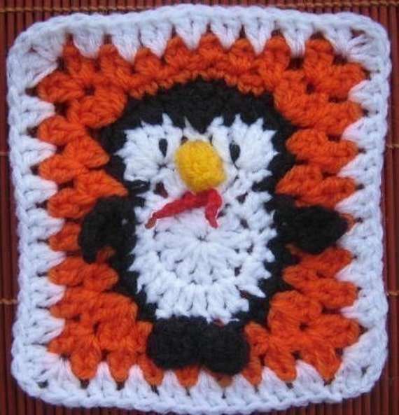 Fairy Penguin Square- rugalugs crochet pattern