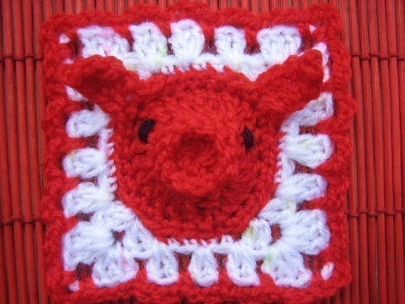 Year Of The Pig Square Motif And Baby Gifts Crochet Pattern