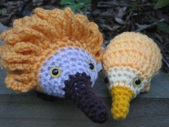 Free Crochet Patterns Australian Animals : Echidna and baby puggles crochet patterns by crochetroo on ...