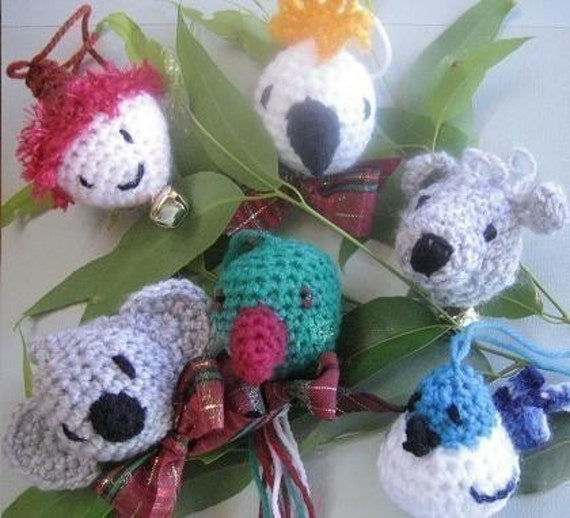 Christmas Down Under Festive Ornaments (crochet patterns)