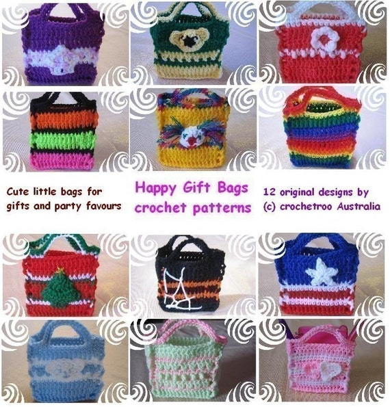 Happy Gift Bags (crochet patterns)