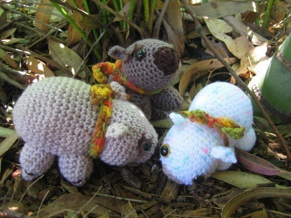 Wombat- crochet pattern