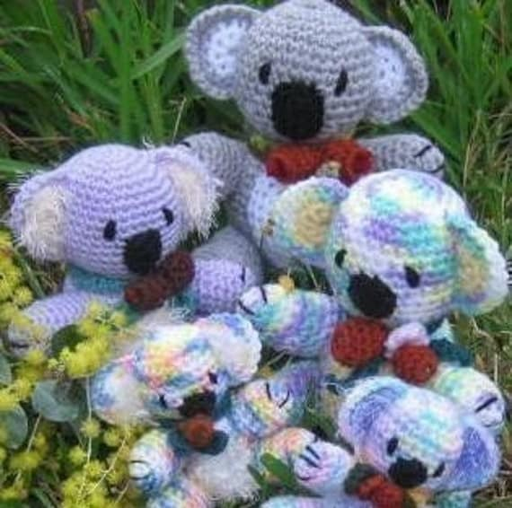 Koala Kapers - koala family crochet pattern