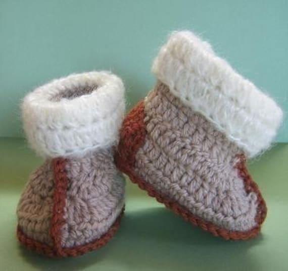 Crochet Patterns Australia : Aussie Snuggly Ugg Crochet Booties baby toddler size