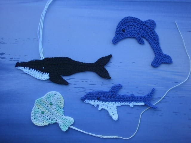 Sea Creatures from the Australian Coast dolphins by crochetroo