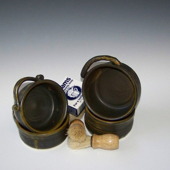 Ready to Ship Now 4 Shaving Mug Gift Sets.  Upscale color combination