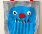 Felt Crayon Monster Tote