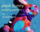 Plush Bunny sewing pattern