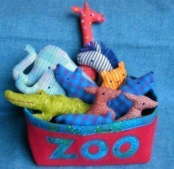 Zoo Set - Little Softies sewing pattern