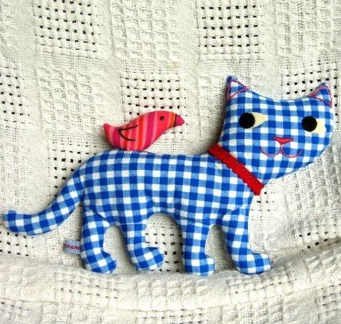 Kitty Bird Pdf Sewing Pattern Instant Download Sweet