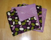 Purple Oval Cloth Wipes\/Washcloth
