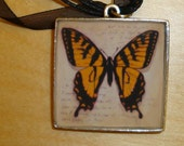 Swallowtail Butterfly - Resin Art Pendant