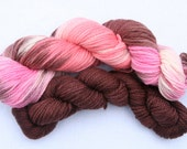 SALE  Yarn Pirate Hand Dyed Yarn-- Neopolitan with matching trim