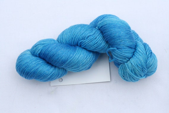 SALE Yarn Pirate Handdyed Sock Yarn--Blue Curacao
