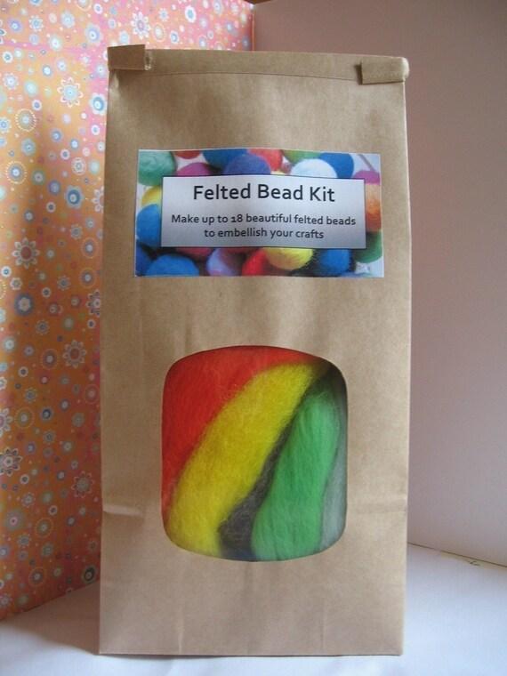 Felt Ball Kit.  Wool bead tutorial