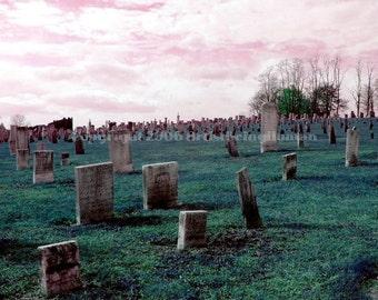 Cemetery 5x7 photograph Digital Wall Art surreal, dark art, gothic