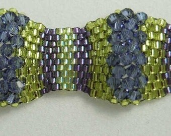 Tutorial for The Wave Crystal Beaded Bracelet