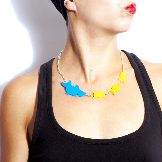 Sharks and Fish Necklace