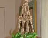 RESERVED for Angela Wilson  DRAGONFLY Macrame Plant Hanger Holder Jute
