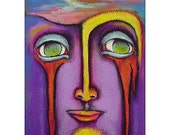 DAY DREAMS Outsider Art Original Painting ACEO