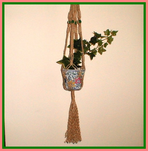 Herbs Mini Macrame Plant Hanger And Flower Pot By Joandougart