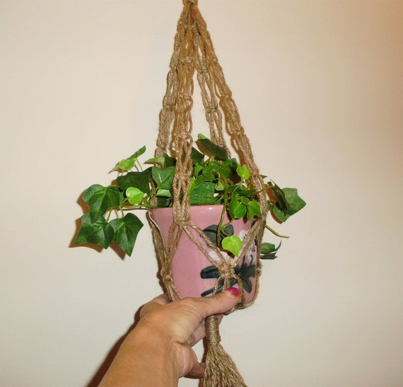 RESERVED For DONNA  2 Small Ivy Macrame Plant Hangers