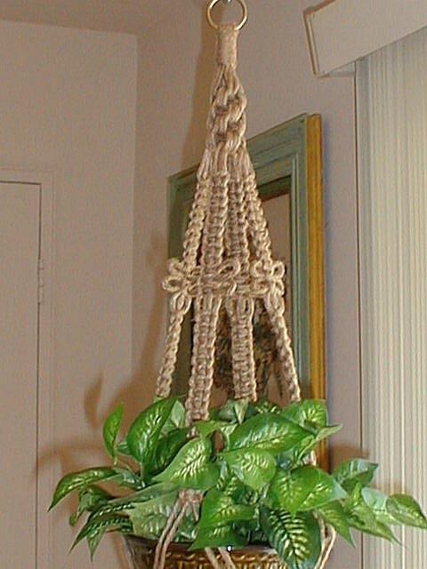dragonfly macrame plant hanger holder jute made in by. Black Bedroom Furniture Sets. Home Design Ideas