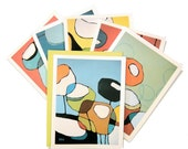 Boxed Notecard Set - Poppies and Lanterns II