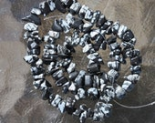 snowflake Obsidian stone chips 12 inch strand