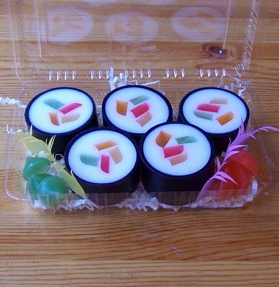 Made to Order Bento Box Sushi Soap with Your Choice of Scent and Base