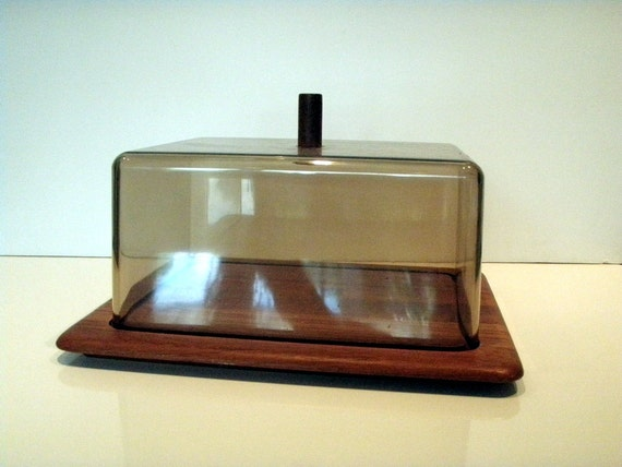 1964 Digsmed, Denmark Teak Covered Serving Tray or Cheese Board - Excellent Vintage Condition