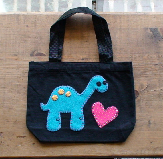 Dinosaur Heart Tote Bag