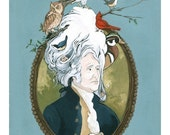 A Bird In Hand - (Big Wigs) - Archival Fine Art Print