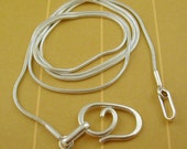 RESERVED Listing -- 2mm Leather Cord w\/ Spiral Clasp