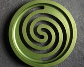 Round Anodized Soap Dish