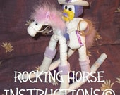 Diaper ROCKING HORSE INSTRUCTIONS. Great for baby shower hospital gift welcome baby