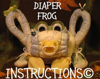 How to make a Diaper Frog and Toadstool Night Light. Rrrrrrrrrrrrribit. GR8 for baby showers.