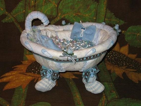 learn 2 make a bathtub from diapers tutorial by. Black Bedroom Furniture Sets. Home Design Ideas